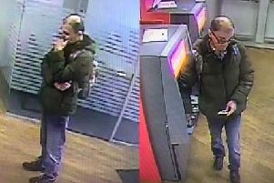 Police would like to speak to the male pictured in relation to a theft at Santander in Fazakerley Street, Chorley on Tuesday, April 2 at around 12.20pm.