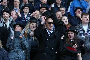 Some of the Preston 'Gentry' at West Bromwich on Saturday