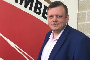 Martin Thomas, new commercial manager at Morecambe FC.