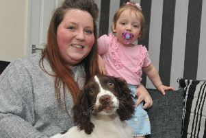 Elise Havey and daughter Freya reunited with George