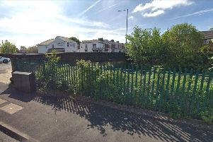 The disused railway line and embankment off Burrow Road, Deepdale. Image from Google.
