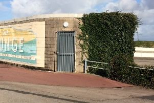 The toilets near to where the former Superdome was in Morecambe.