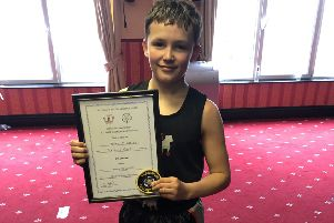 Noah Nicholls became the Training Cave's first Yorkshire Schoolboy champion.