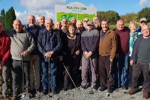 Beacon Park golfers and Rosie Cooper MP