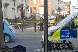 Images following the incident outside The Globe