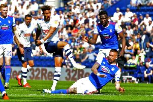Callum Robinson fires Preston in front against Ipswich