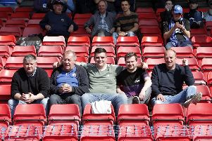 Chesterfield fans at Gateshead.