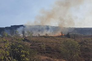 Moorland fire at Ilkley Moor. Credit: Ilkley Chat