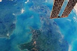 The UK as seen from the International Space Station. Pic-NASA.
