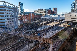 Key commuter train lines into Leeds are blocked due to a fault on a train.