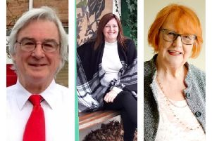 The candidates in the Holywell by-election, from left, Leslie Bowman, Maureen Levy and Anita Romy.