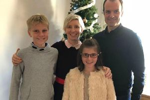 Ben Nicholson with wife Anita, son Alex, 14, and daughter Annabel, 11. The lawyer's wife and two children were among nearly 300 people killed in the series of terror attacks in Sri Lanka. Family handout/PA Wire.