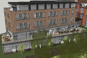 An artists impression of how the new addition to Avenham's Park Hotel could look