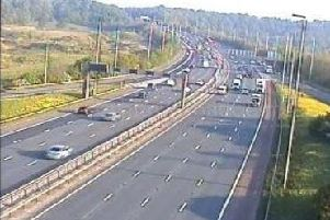 Debris on the southbound M6 is causing delays between junctions 33 and 34.