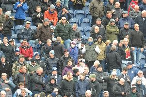 Preston fans in the Alan Kelly Town End before the 3-3 draw with Sheffield Wednesday