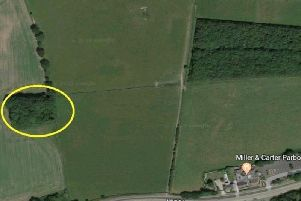 The map shows the area (circled) where the body was found. Pic: Google Maps