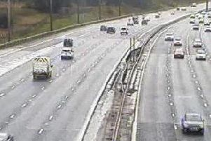 Highways England has warned of a road closure on the M6 near Samlesbury