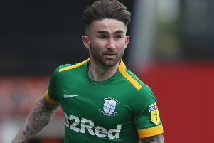 Sean Maguire ' pictured at Brentford on Sunday ' has had hamstring problems this season