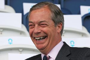 """Nigel Farage, who has urged Brexit Party supporters to join a """"fightback"""" as he continues on his campaign trail ahead of the European elections."""