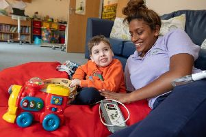 William with nurse Prisha Patel
