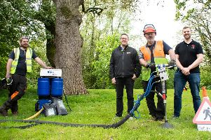 The Tree Rescue team at Myerscough College