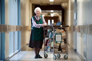 Joan Hardcastle, who has retired from being a volunteer at the Royal Preston Hospital