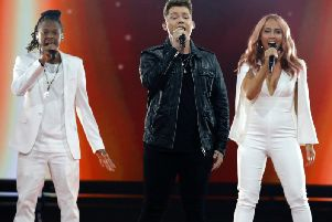 Michael Rice performing at Eurovision on Saturday night.