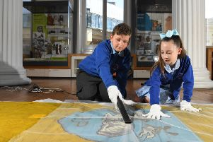 Children from Fulwoods Harris Primary School spend a day in charge at the Harris museum, art gallery and library