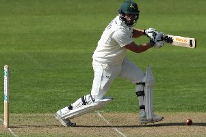 Steven Mullaney hit a brilliant century to prevent a Notts collapse.