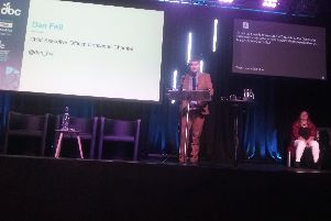 Dan Fell addressing the Doncaster Business Conference 2019