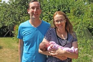 MP Cat Smith with Elijah and her husband Ben