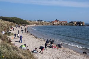 Beadnell beach. Picture by Jane Coltman
