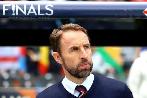 Setting his sights: England manager Gareth Southgate.