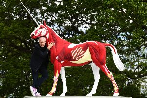 Damien Hirst at the Yorkshire Sculpture Park. Yorkshire Post picture by Jonathan Gawthorpe