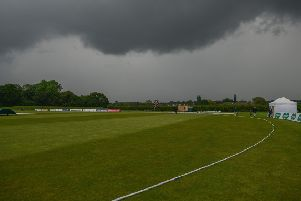 Notts v Hampshire at John Fretwell Sports Complex, match ended early by the heavy rain