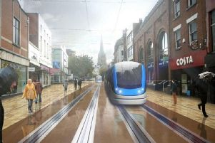 An image of what part of the 'Guild Tramway' by Preston Trampower may look like in Preston.