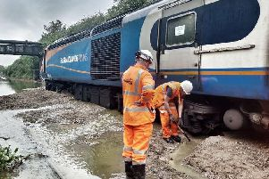 The stranded train. Picture: British Transport Police (Leicestershire).
