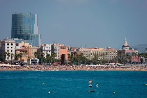 The Barceloneta beach in Barcelona. Photo - Josep Lago/AFP/Getty Images