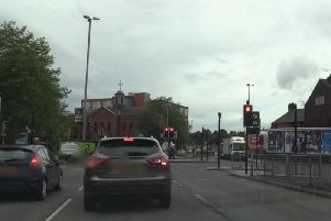 The A59 Ringway at the junction with Friargate