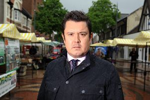 Simon Greaves pictured in Worksop Town Centre.