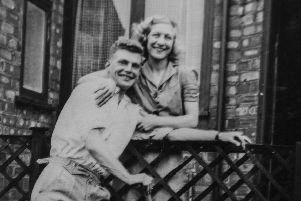 A copy of a photo of Polly's parents Ken and Ethel Warrener.