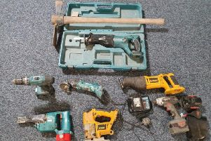 These tools were discovered after a stolen car was recovered in Preston last night (June 19)