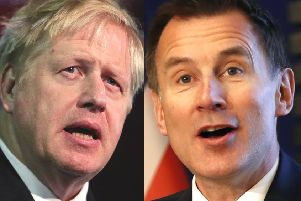 Boris Johnson will take on Jeremy Hunt, his successor as Foreign Secretary, for the Tory leadership.