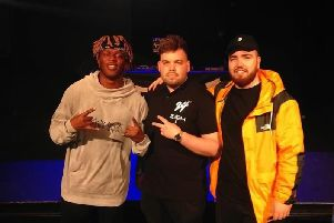KSI, Curtis Roberts and Randolph. Picture submitted.