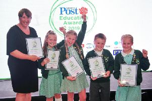 Primary School of the Year winners Ribby with Wrea CE