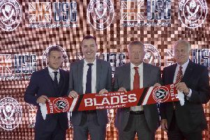 LEEDS DIG: From Sheffield United co-owner Kevin McCabe, far right.