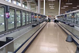 No food in the frozen aisles at Tesco Buckshaw Village (JPIMedia)