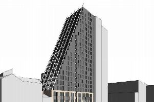 Computer generated image of the apartment block (Image: 1618 Architects)