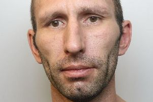 Pictured is Graham Gardiner, 40, of Chesterfield Road, Shuttlewood, has been jailed for 45 months after he was found guilty of assault occasioning grievous bodily harm.