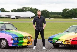 Andrew Flintoff and the Top Gear team travelled to the Kingdom of Brunei, who draconian laws banning homosexuality were recently introduced, in cars emblazoned with Pride colours